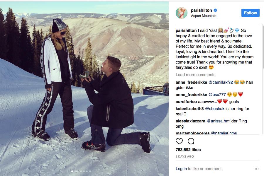 Кто купил кольцо для помолвки Пэрис Хилтон за полтора миллиона фунтов?
