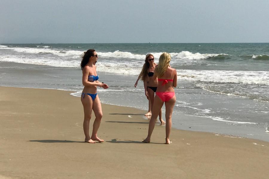 Сняли девушек на пляже