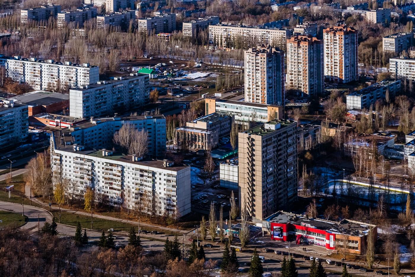 Тольятти с высоты. Октябрь 2014. город как на ладони