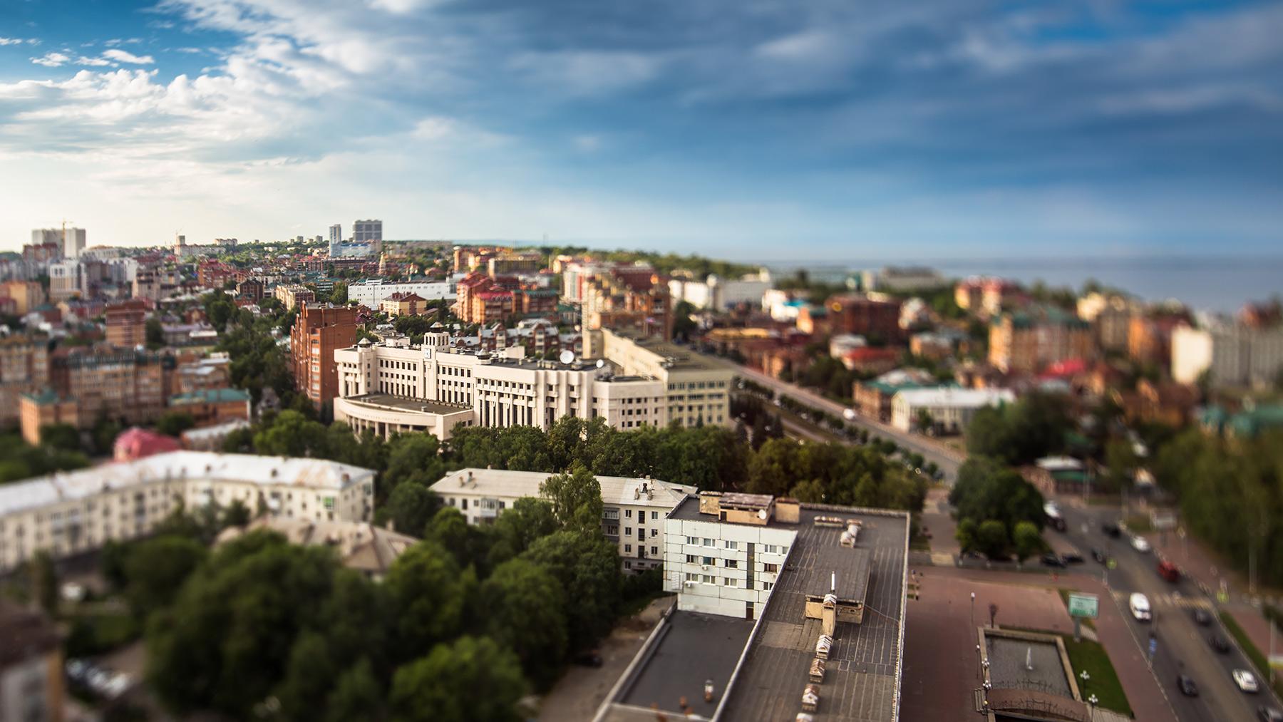 Ульяновск с высоты. Ленинский район(Центр). Июль 2018.