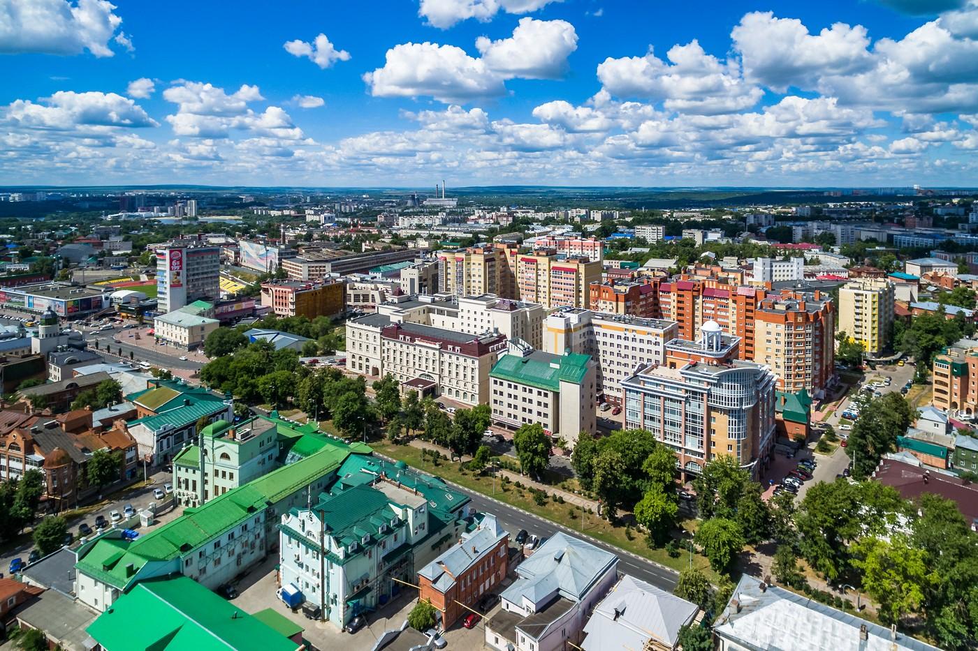 Ульяновск с высоты. Ленинский район(Центр). Июль 2018. город как на ладони
