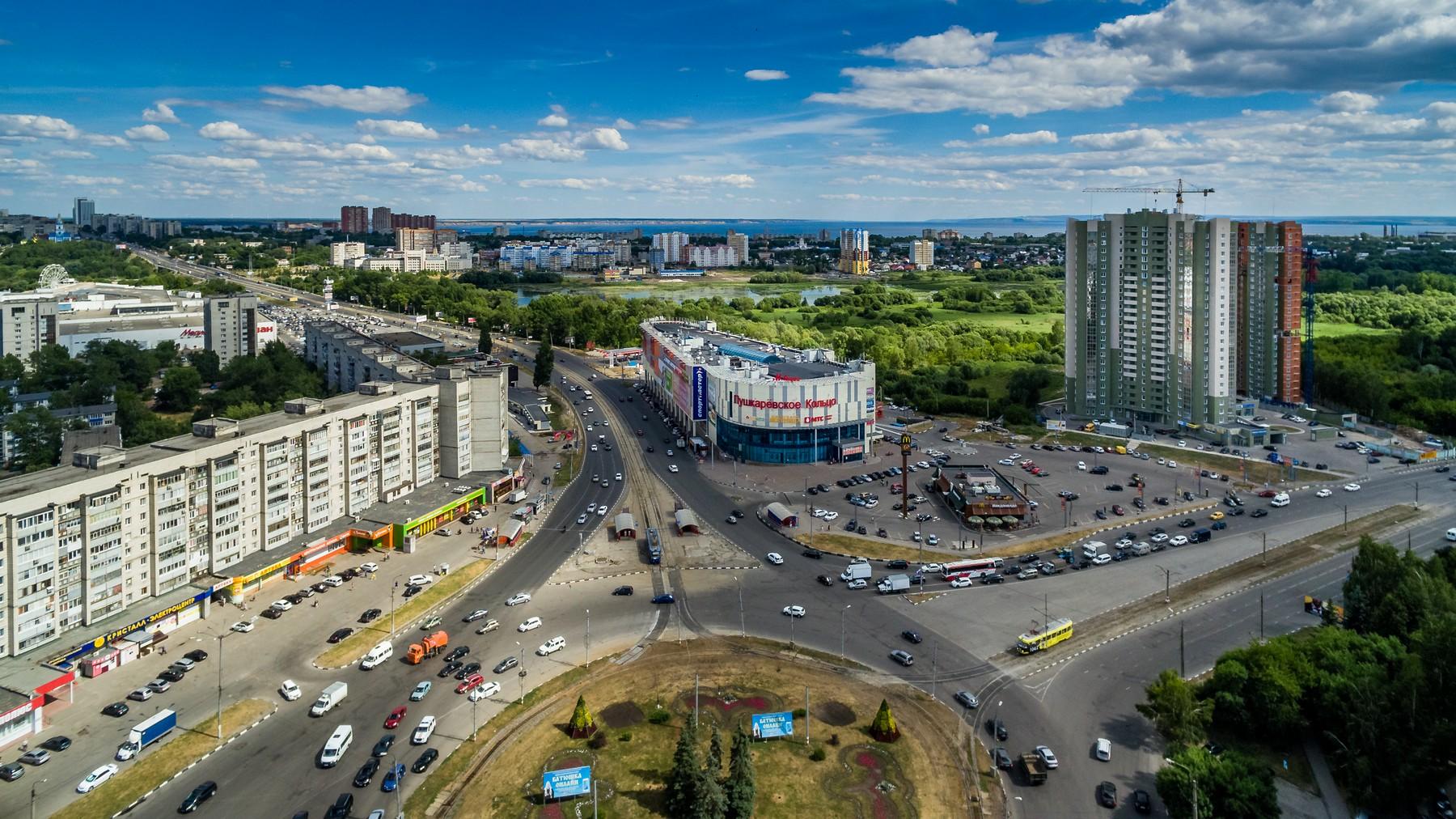 Ульяновск с высоты. Железнодорожный и Засвияжский район. Июль 2018