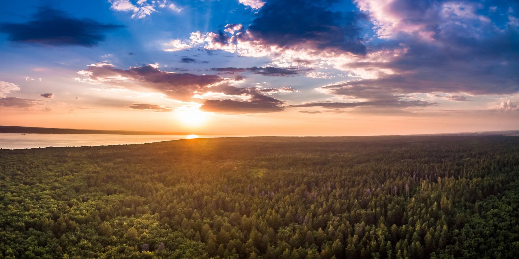 Вечерний Тольятти с высоты. Июль 2018. город как на ладони