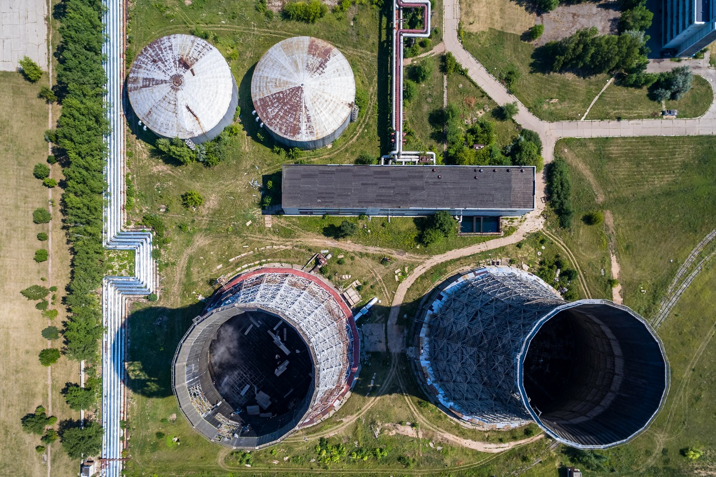 Промышленность Ульяновска с высоты. Июль 2018 город как на ладони