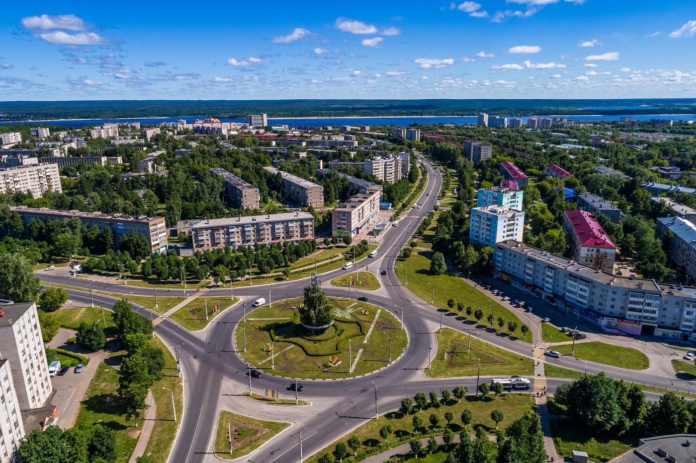 Новочебоксарск с высоты. Июнь 2019.