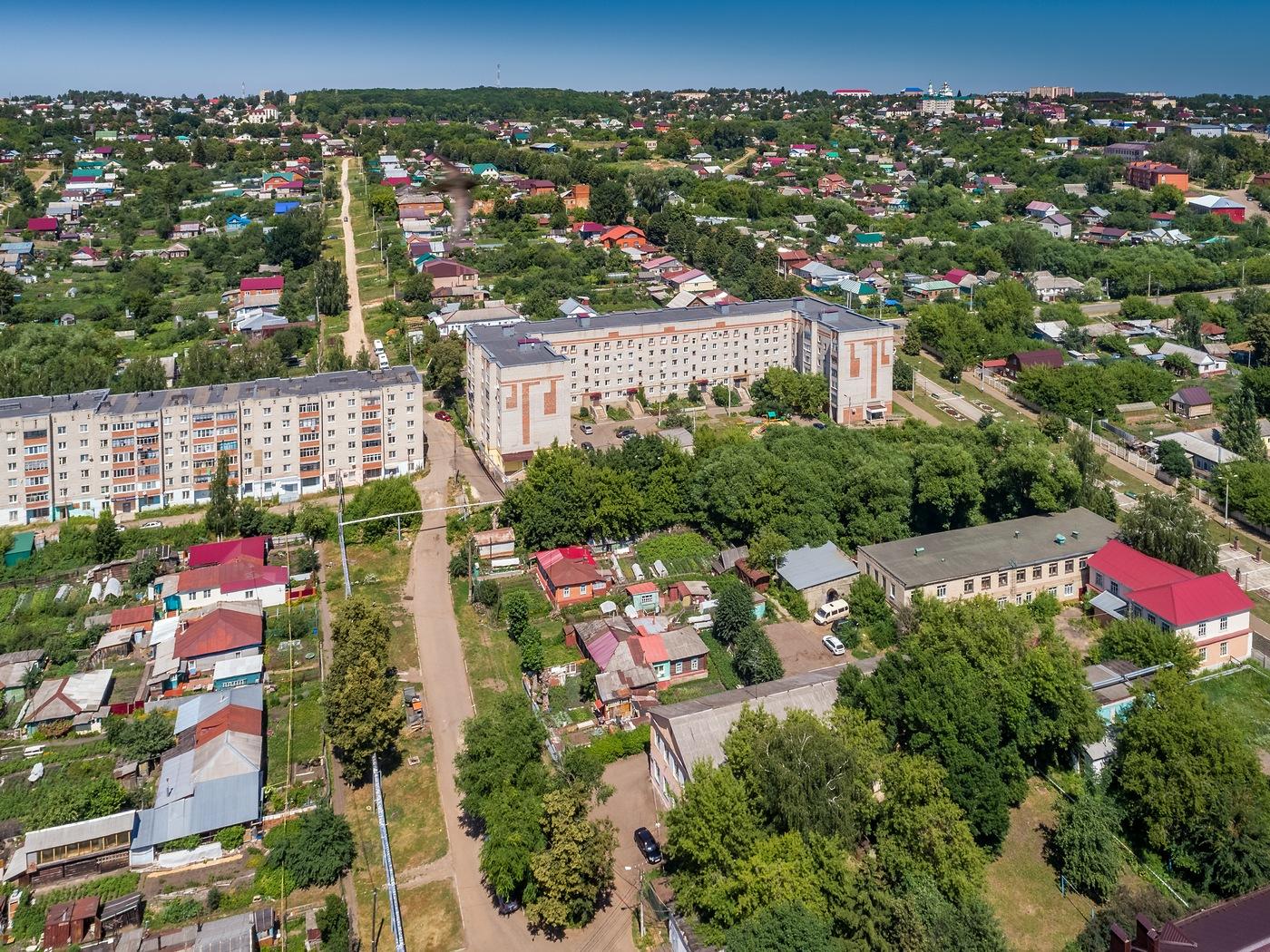 Рузаевка с высоты, Мордовия.