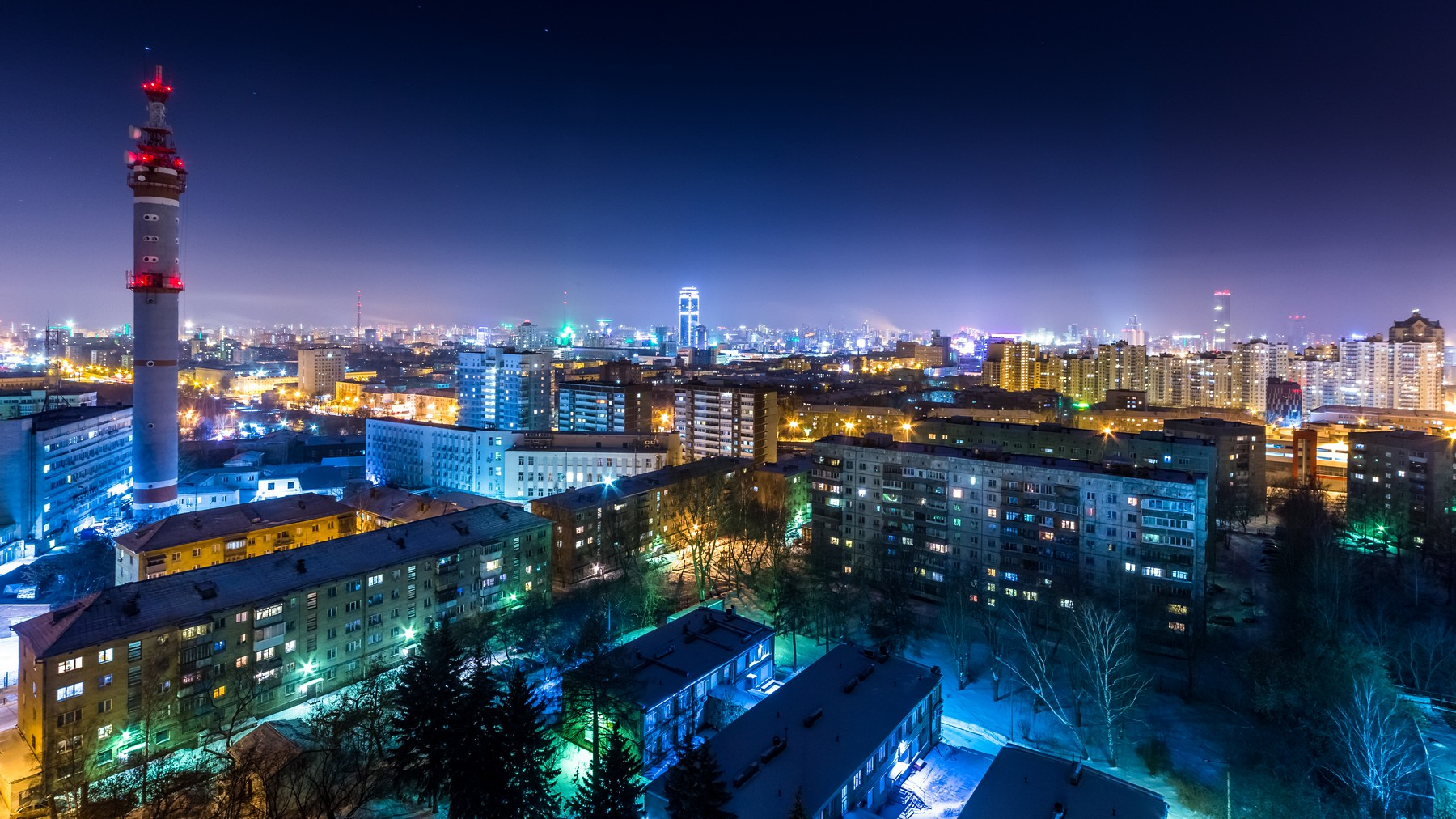 ночные зимние фото екатеринбурга работать будут