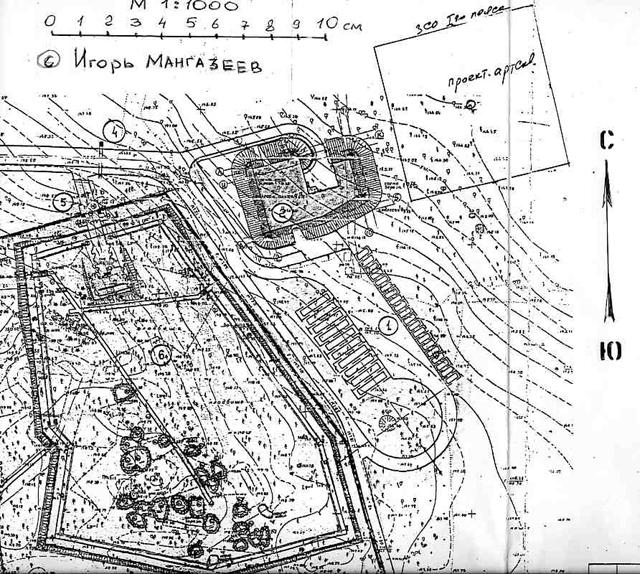 Воздушный снимок Медного, 1942 год  45083_original