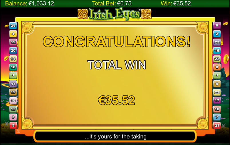 irish eyes total win