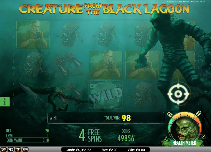 creature from the black lagoon slot free spins