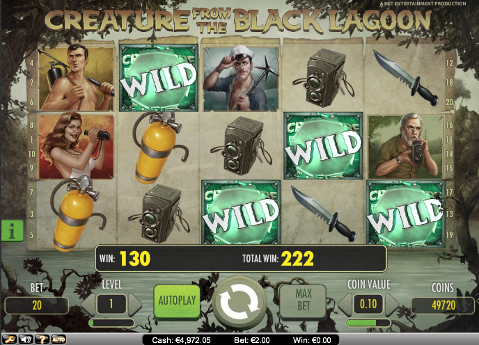 creature from the black lagoon slot wild symbol