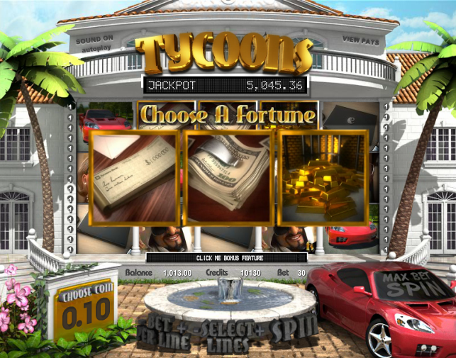 tycoon slot choose a fortune game
