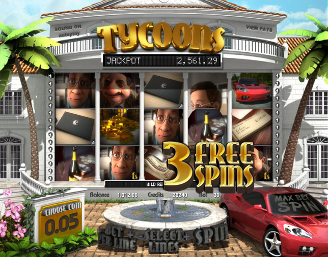 tycoons slot 3 free spins