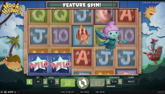 hook heroes slot fairy feature