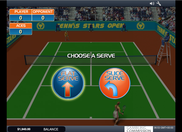 tennis starts slot bonus game