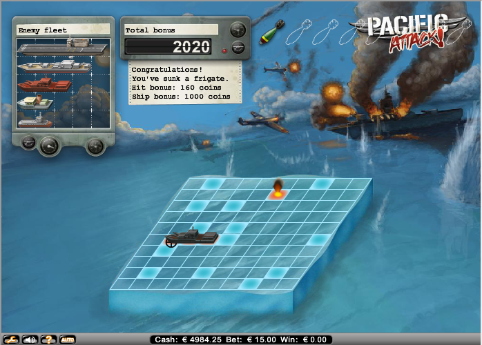 pacific attack slot the bonus game