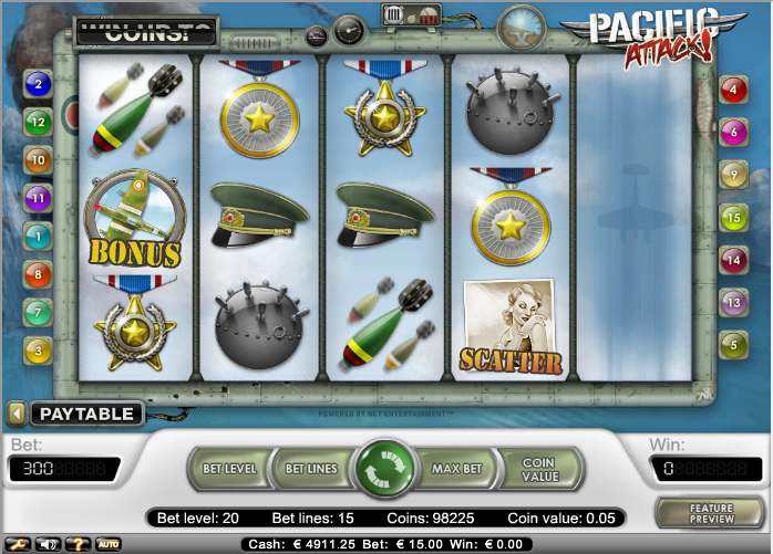 pacific attack slot the main game