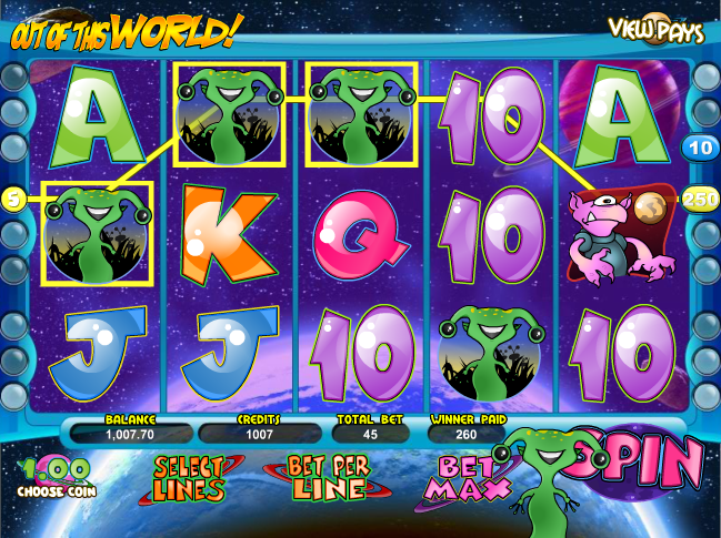 out of this world slot main game