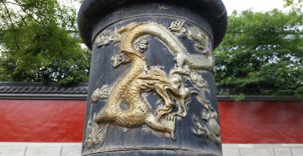 Dragon on lamppost in Xian