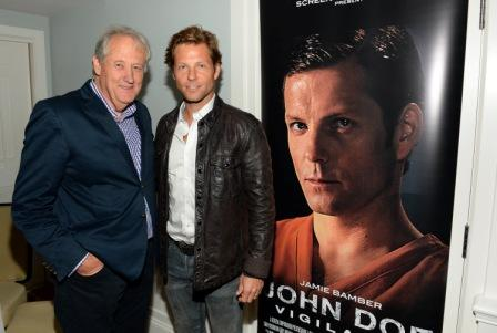 D6-C2. MFM Managing Director James M. Vernon and Actor Jamie Bamber attend the American Film Market
