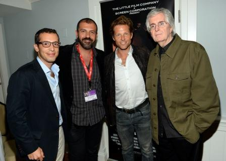 D6-C4. The Little Film Company Sales and Marketing Director Elie Mechoulam, Main Street Films' Harrison Kordestani, Actor Jamie Bamber and The Little Film Company Producer Robert Little