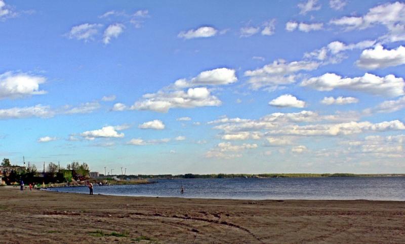 Челябинск. Небо над озером Смолино.