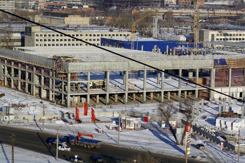 Строительство ТРК, январь, 2014