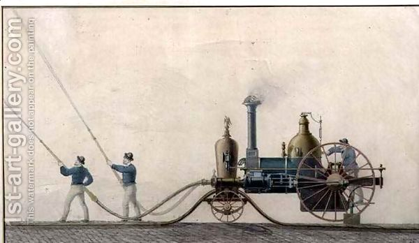 The-First-Steam-Fire-Engine-Used-In-The-United-States-In-1841