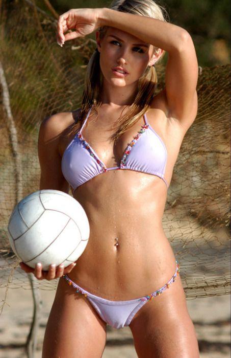 волейбол и девушка