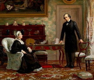 Peace-With-Honour-Queen-Victoria-$281819-1901$29-With-Benjamin-Disraeli-$281804-81$29-Following-The-Signing-Of-The-Berlin-Treaty-In-1878