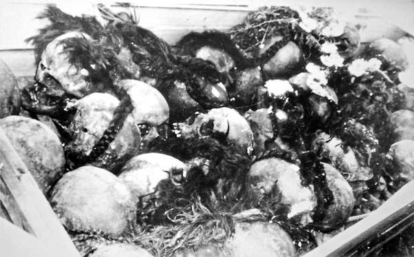 rasstrely_nkvd_10 Демьянов Лаз. Женские косы, вынутые из второй могилы с черепами