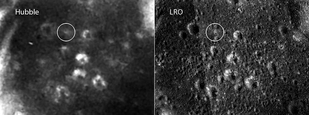 Телескоп Hubble снял места посадок Apollo на Луне