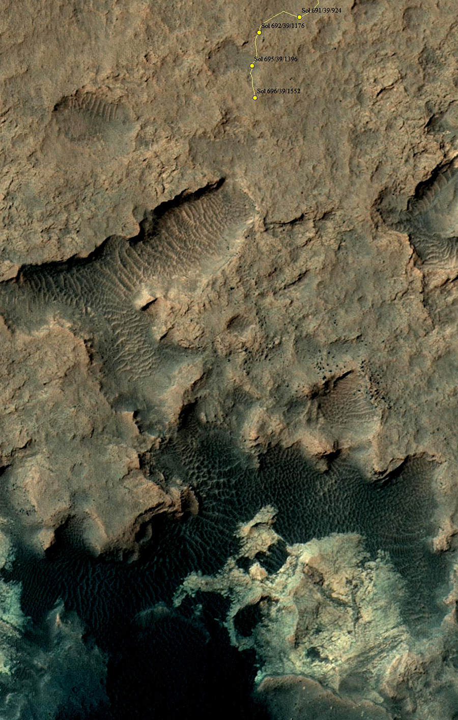 Curiosity_Location_Sol0696