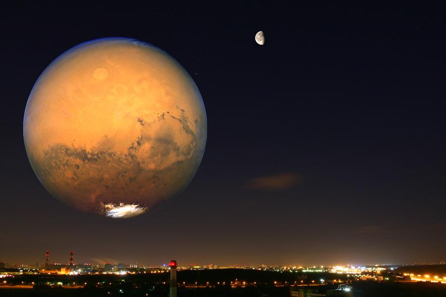 Картинки по запросу марс размером с луну