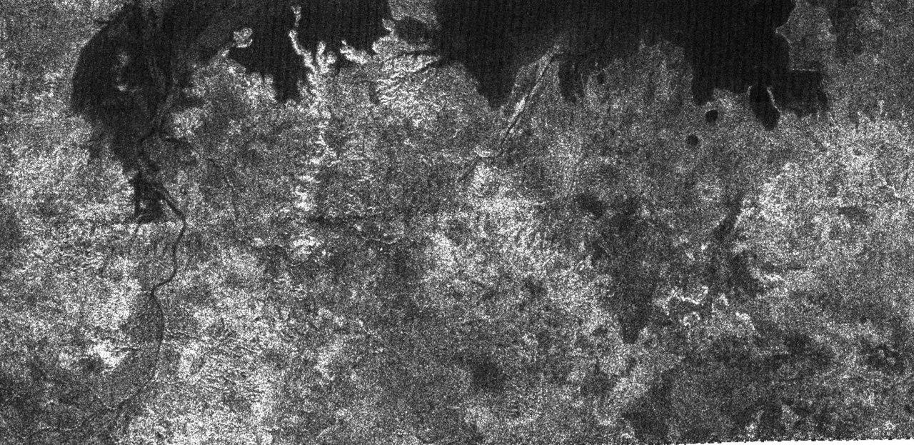 Реки и прибрежная зона на Титане
