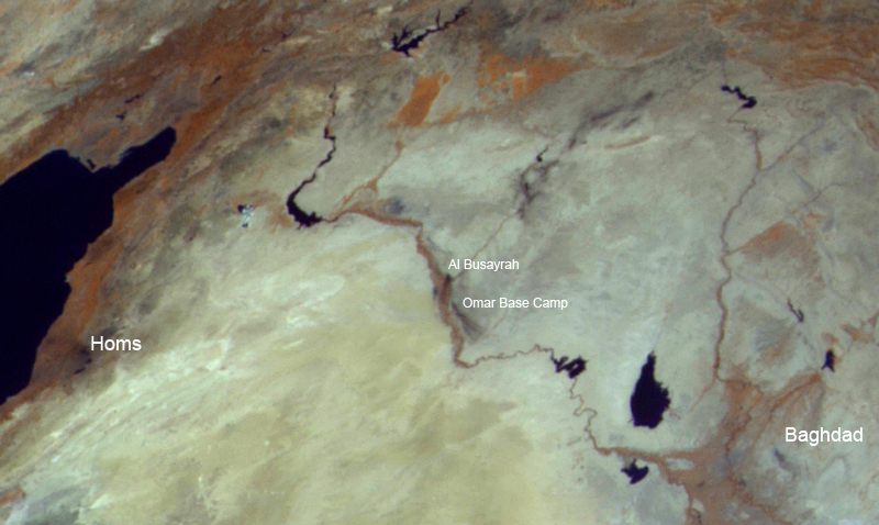 Война в Сирии: вид из космоса Syria