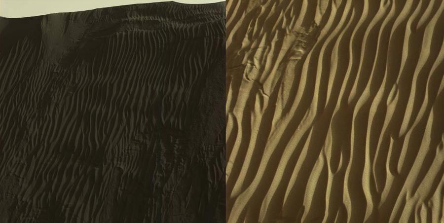 Марсоход Curiosity изучает темные дюны