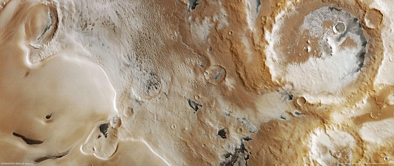 Марс в натуральном цвете