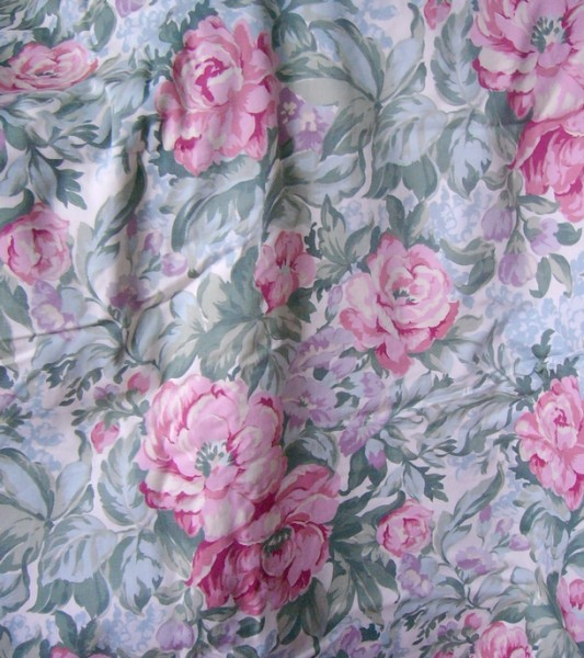 sage floral fabric