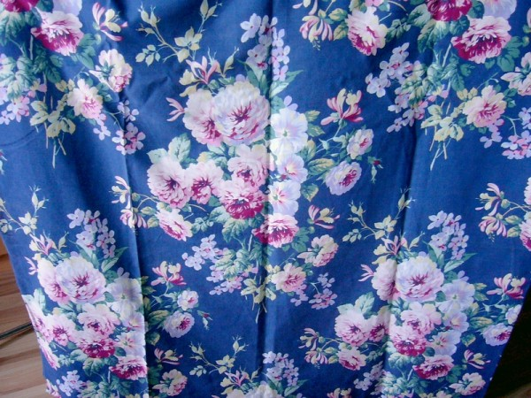 dusty blue floral fabric