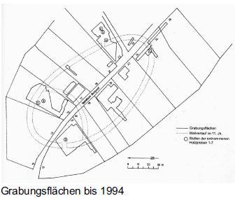 Карта раскопок Шпандау