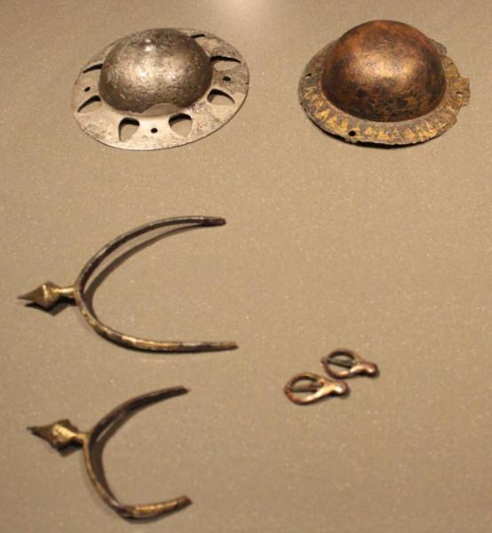 Шпоры и наконечник щита
