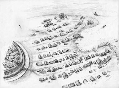 Rekonstruktionsversuch der Siedlung
