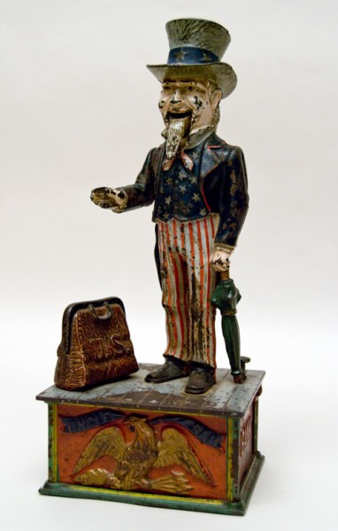 1-Antique_American_Original_Cast_Iron_Patriotic_American_Uncle_Sam_Mechanical_Bank01