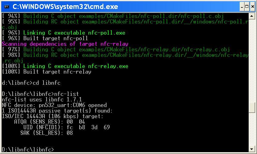Программы для микросхемы pn532 (прошивка adafruit v1 6