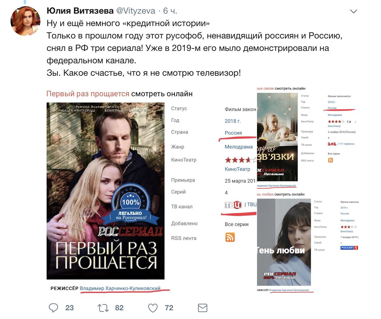 Режиссёр Харченко-Куликовский о русских