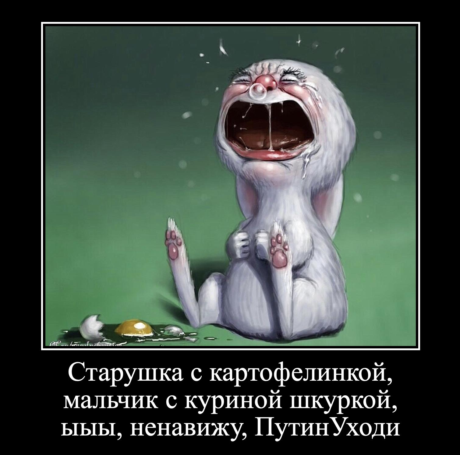 вот картинка заяц в слезах и соплях ежедневного использования подойдет