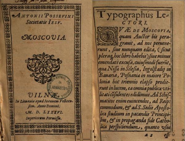 Moscovia Possevini 1586