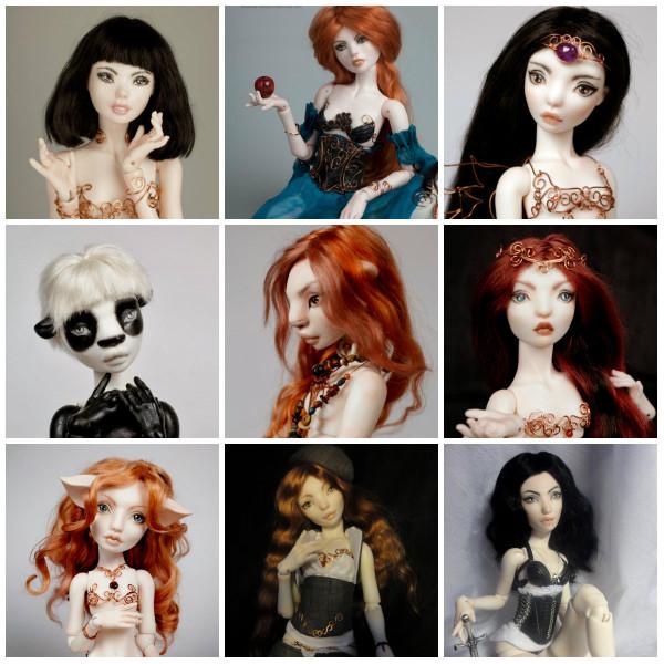 Авторские шарнирные куклы Жуково Марии CloverDolls