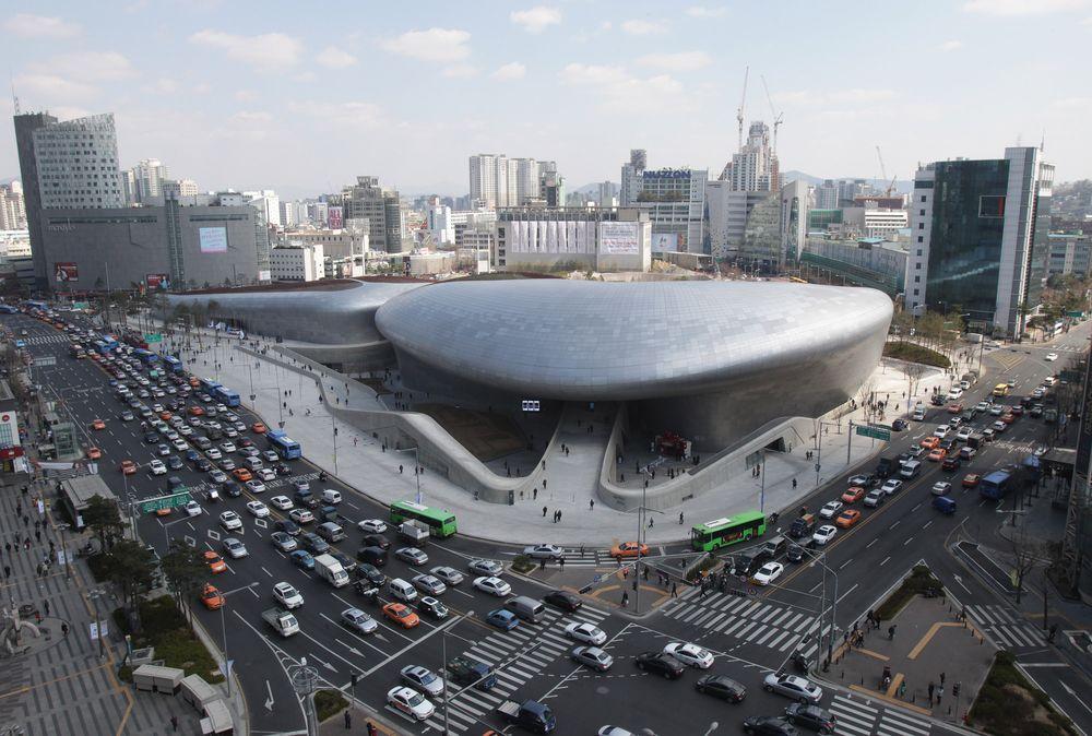Выставочный центр сверху